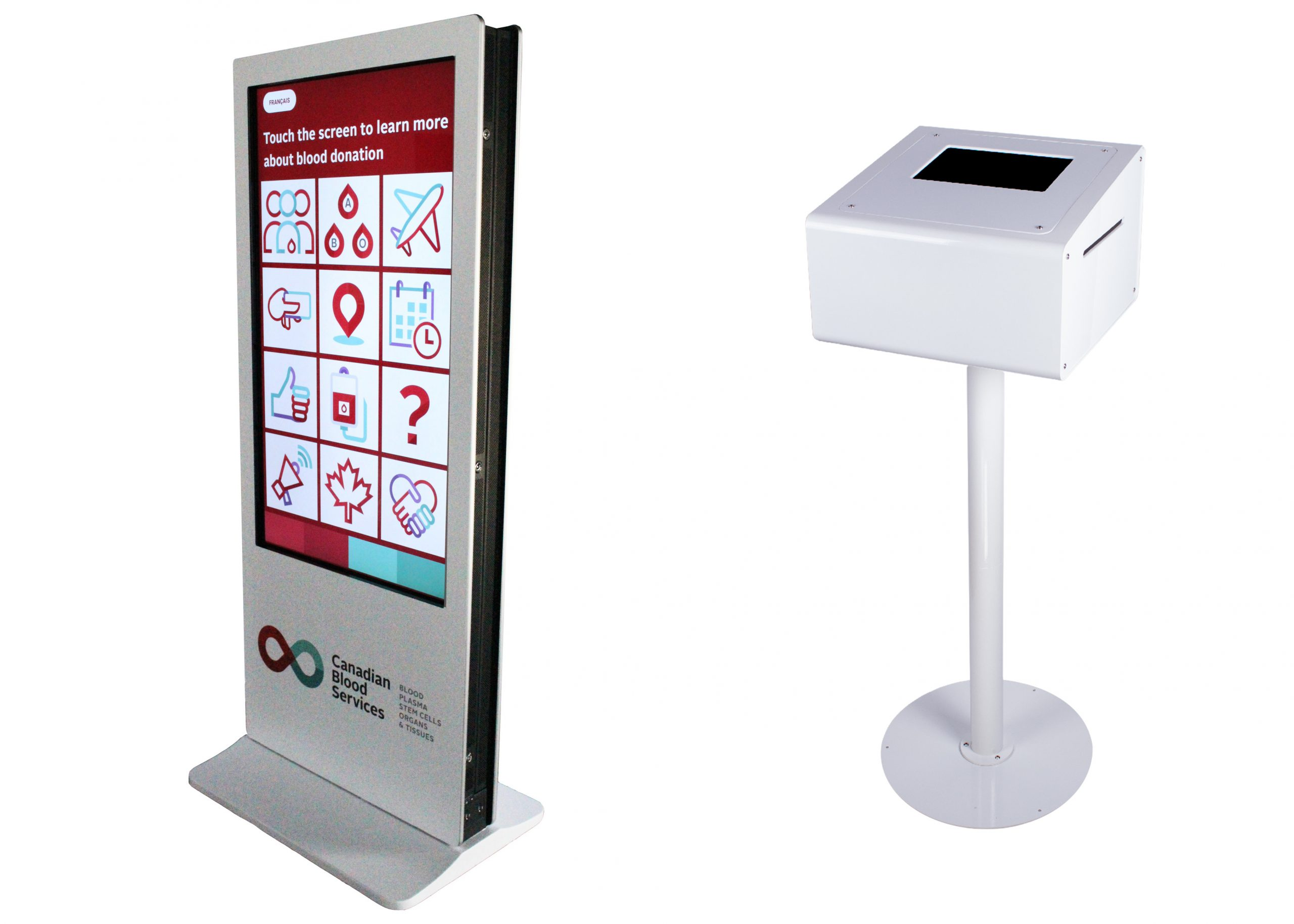 branded kiosk 45 screen on print